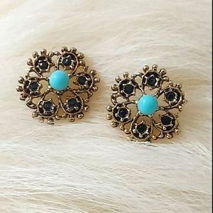 E1755 Deco Stud Earrings
